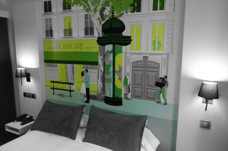 Chambre d'hôtel en journée dayroom à l'Hôtel des Arts Bastille
