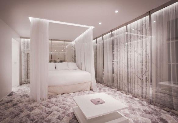 chambre en journée dans un hôtel de Luxe