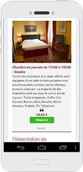 SoRoom - chambre d'hôtel en journée sur votre mobile