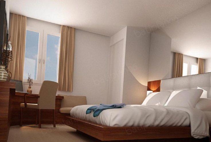 chambre d'hôtel en journée Nice